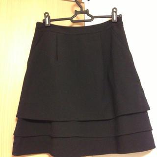 プーラフリーム(pour la frime)の黒のスカート(ひざ丈スカート)