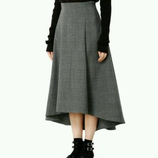 ルシェルブルー(LE CIEL BLEU)のle ciel bleu チェックトレーンスカート 34(ひざ丈スカート)
