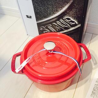 ストウブ(STAUB)の新品 STAUB ストウブ ピコ・ココット ラウンド 20cm レッド(鍋/フライパン)