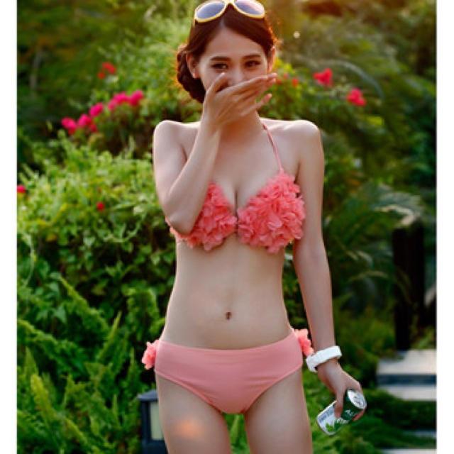 水着 ♡ サーモンピンク レディースの水着/浴衣(水着)の商品写真