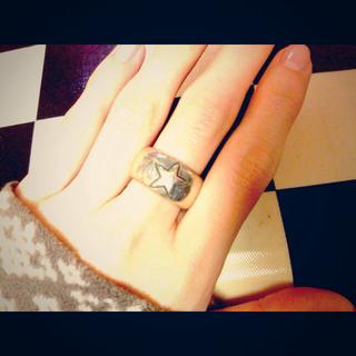 925★シルバーリング★星(リング(指輪))