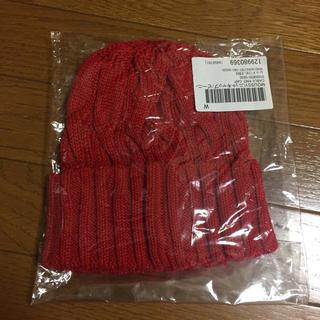 マウジー(moussy)のマウジー✩赤ニット帽(ニット帽/ビーニー)