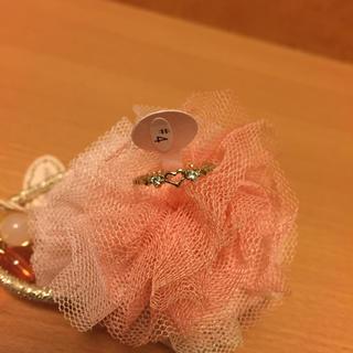 【新品】指輪 ピンキーリング キラキラ ハート(リング(指輪))