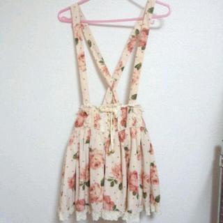 リズリサ(LIZ LISA)のリズリサ☆スカート ベージュ花柄(ミニスカート)