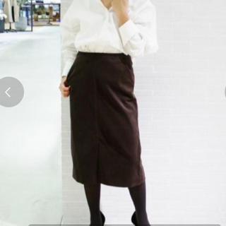 プラージュ(Plage)のまいまい様専用…プラージュ コーデュロイスカート ブラウン カーキ(ひざ丈スカート)