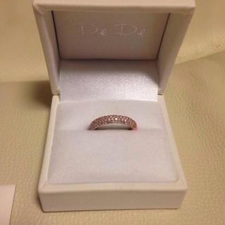 ダイヤリング、ピンクゴールドk10(リング(指輪))
