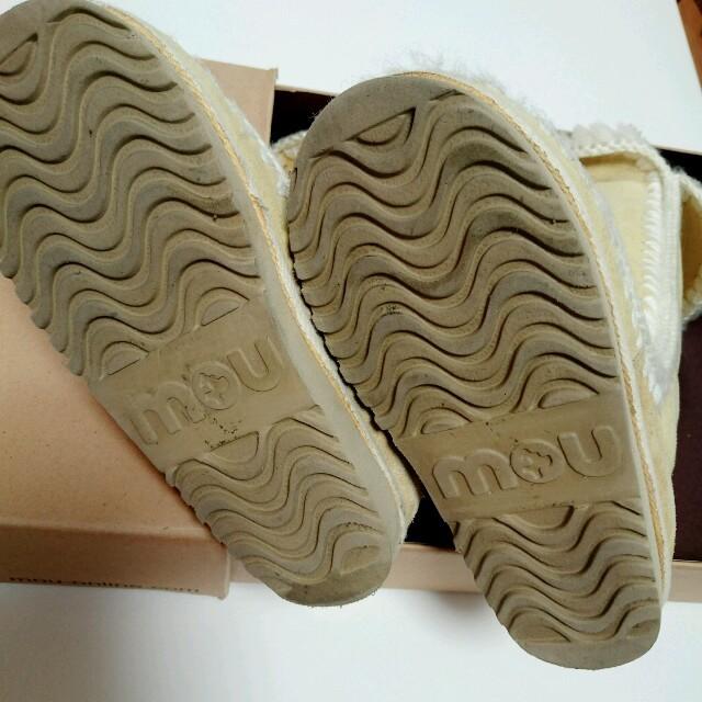 mouムートンブーツイエロー レディースの靴/シューズ(ブーツ)の商品写真