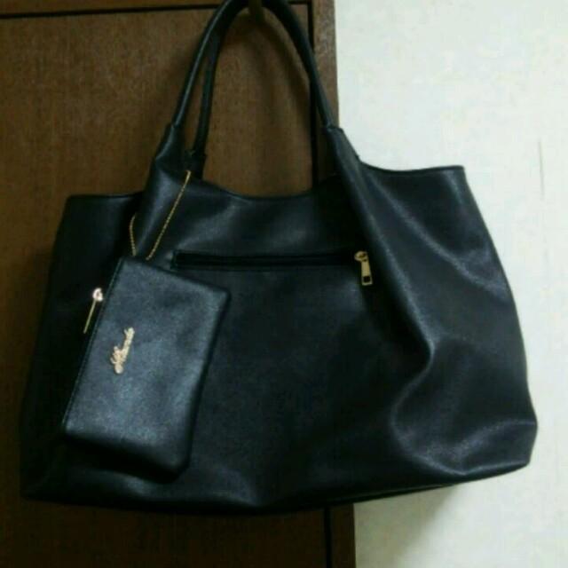 美品、大きめ黒のハンドバッグ レディースのバッグ(ハンドバッグ)の商品写真