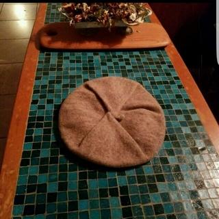 ムジルシリョウヒン(MUJI (無印良品))の無印良品ベージュベレー帽(ハンチング/ベレー帽)