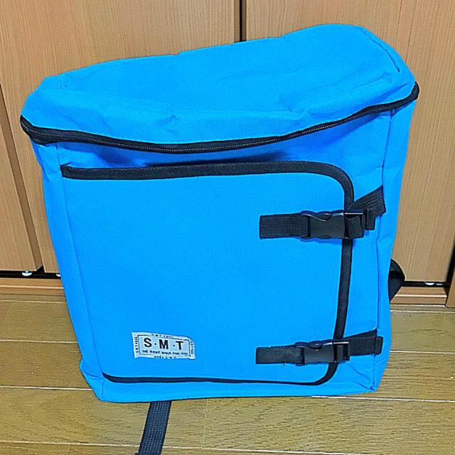 リュック スクエア バックパック 青 水色 レディースのバッグ(リュック/バックパック)の商品写真