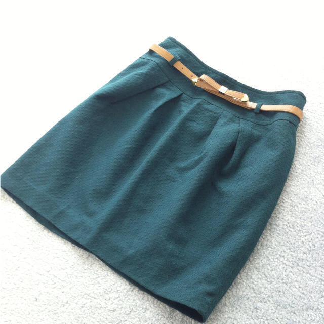 pour la frime(プーラフリーム)のpour la frime♡緑スカート♡ レディースのスカート(ミニスカート)の商品写真