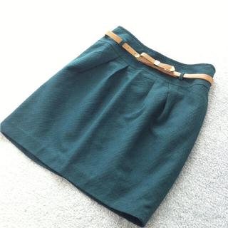 プーラフリーム(pour la frime)のpour la frime♡緑スカート♡(ミニスカート)