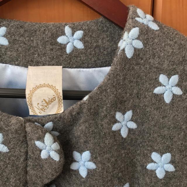 nadesico(ナデシコ)のナデシコ✩刺繍コート 着画あり レディースのジャケット/アウター(ロングコート)の商品写真