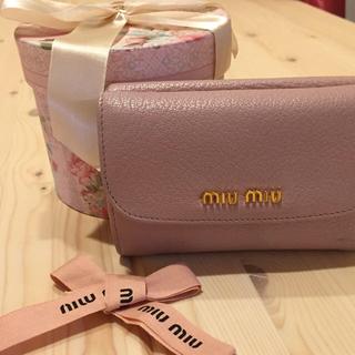 ミュウミュウ(miumiu)のミュウミュウ♡折財布(折り財布)