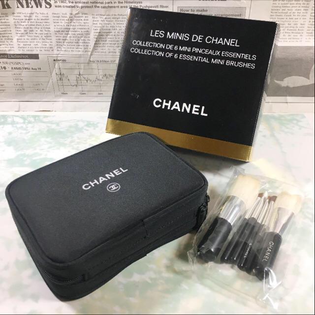 3f1ea6953139 CHANEL(シャネル)の新品☺︎CHANEL シャネル コフレセット メイク ポーチ 黒 化粧 ブラシ