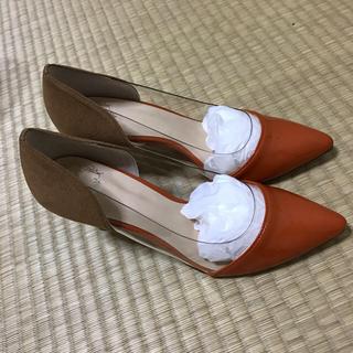 パンプス 24cm オレンジ・ブラウン(ハイヒール/パンプス)