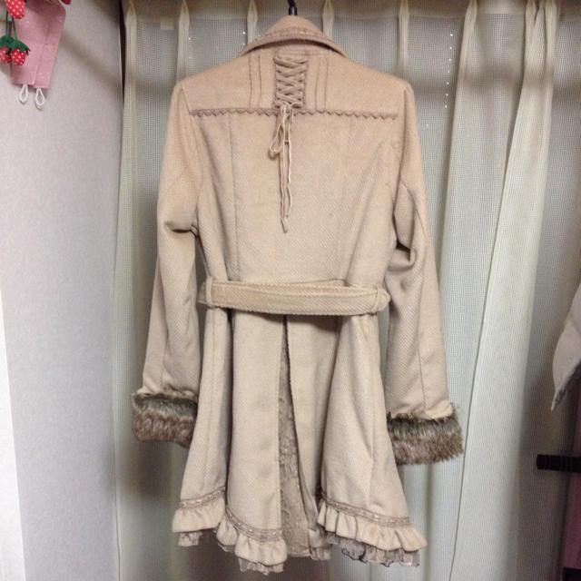 axes femme(アクシーズファム)のaxes 裾フリルロングコート レディースのジャケット/アウター(ロングコート)の商品写真