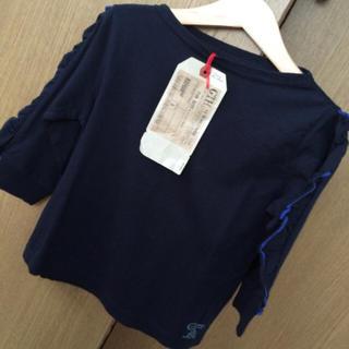 ゴートゥーハリウッド(GO TO HOLLYWOOD)の未着用ダグ付✳︎gotohollywoodゴートゥー袖フリルカットソー110(Tシャツ/カットソー)