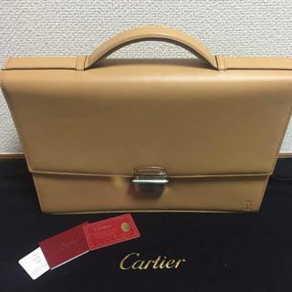 カルティエ(Cartier)の希少☆新品未使用カルティエ・CARTIER ブリーフケース レザー キャメル(ビジネスバッグ)