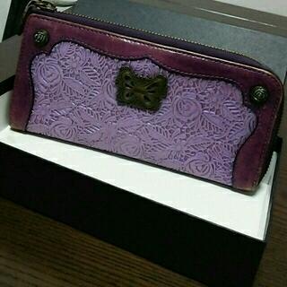 アナスイ(ANNA SUI)のアナスイ 長財布 紫色 アンティーク風(財布)