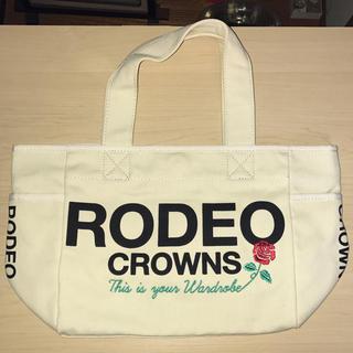ロデオクラウンズ(RODEO CROWNS)の新品 RODEO ロゴ ミニトート キャンバス地(トートバッグ)