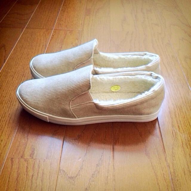 コーデュロイボアスリッポンスニーカー レディースの靴/シューズ(スニーカー)の商品写真