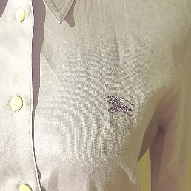 BURBERRY(バーバリー)のバーバリー パープル 美ラインブラウス レディースのトップス(シャツ/ブラウス(長袖/七分))の商品写真