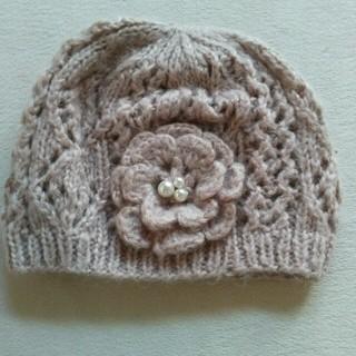 パサージュミニョン(passage mignon)のほぼ新品 ニット帽 passagemignon(ニット帽/ビーニー)