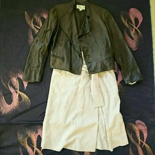 アニエスベー(agnes b.)のアニエスb 革ジャケット ブラック(ライダースジャケット)