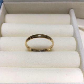 K18  新品 未使用 20号 イエローゴールド リング プレゼント等にも(リング(指輪))