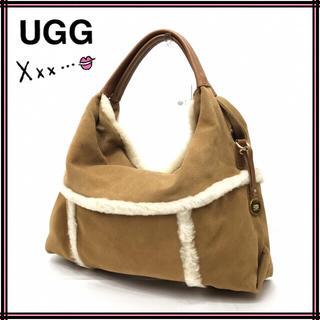 アグ(UGG)のUGG アグ ムートン×レザーワンショルダーバッグ(ハンドバッグ)