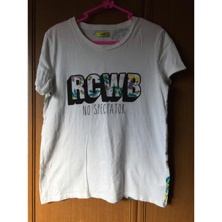 ロデオクラウンズワイドボウル(RODEO CROWNS WIDE BOWL)のRCWBバック総柄メンズTシャツ(Tシャツ/カットソー(半袖/袖なし))