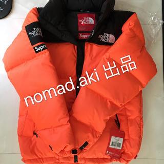 シュプリーム(Supreme)のS supreme north face nuptse orange オレンジ(ダウンジャケット)