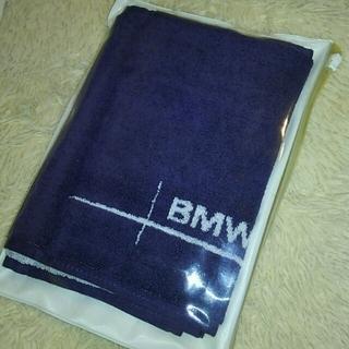 ビーエムダブリュー(BMW)の再《 値下げ☆》BMW  スポーツタオル(ネイビー)(タオル/バス用品)