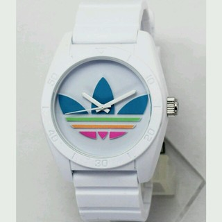 アディダス(adidas)のアディダス サンティアゴ ホワイト×マルチ(腕時計)