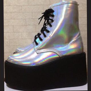 3Dホログラム超厚底ブーツ☆未使用(ブーツ)