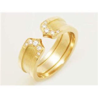 カルティエ(Cartier)の付属品 全部有り カルティエ 2C ダイヤモンド ゴールド リング (リング(指輪))