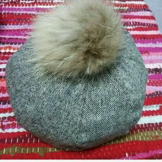コムサイズム(COMME CA ISM)のコムサ♪ツイードポンポンベレー帽(ハンチング/ベレー帽)