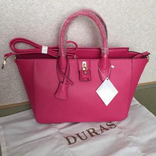 デュラス(DURAS)のことみん様専用☆Duras 2way トートバッグ ピンク(トートバッグ)