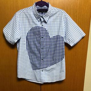 ミルクボーイ(MILKBOY)のMILKBOY ミルクボーイ ギンガムチェック シャツ ハート 試着程度(シャツ)