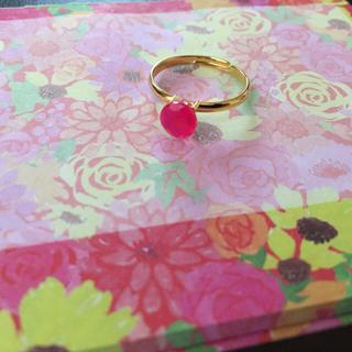 ピンクカルセドニーリング(リング(指輪))