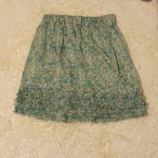 プーラフリーム(pour la frime)のpour la frimeの花柄スカート(ひざ丈スカート)