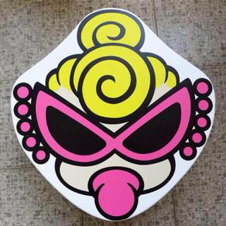 ヒステリックミニ(HYSTERIC MINI)のミニちゃんフェイステーブル★折りたたみ★ピンク新品(折たたみテーブル)