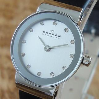 スカーゲン(SKAGEN)の新品 SKAGEN 腕時計 レディース ブラック 小ぶりで上品 仕事おすすめ(腕時計)