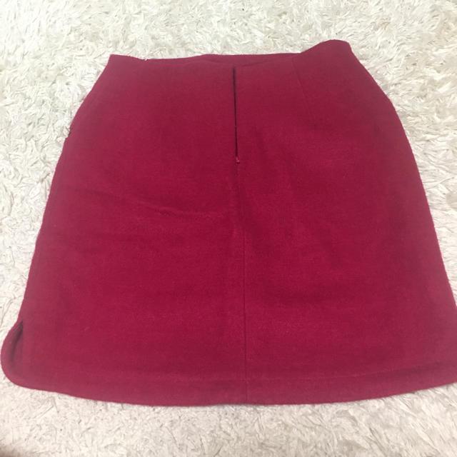 POWDER SUGAR(パウダーシュガー)のワインレッド♡台形スカート レディースのスカート(ひざ丈スカート)の商品写真