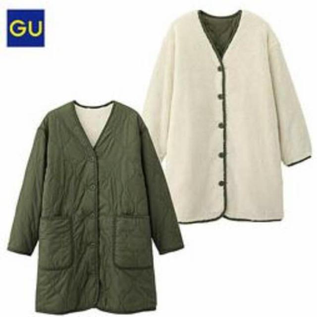 gu キルティング コート