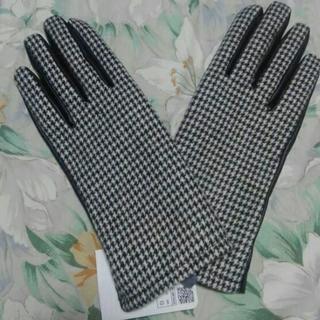 ザラ(ZARA)のZARA今季千鳥&合皮異素材手袋新品M(手袋)