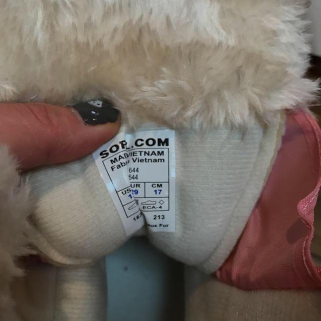 SOREL(ソレル)の今だけ価格ソレル 17センチ ピンク スノーブーツ レインブーツ キッズ/ベビー/マタニティのキッズ靴/シューズ(15cm~)(ブーツ)の商品写真