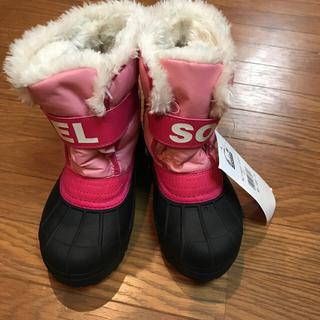 ソレル(SOREL)の今だけ価格ソレル 17センチ ピンク スノーブーツ レインブーツ(ブーツ)