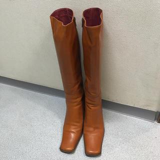 レザーロングブーツ 大きめ(ブーツ)